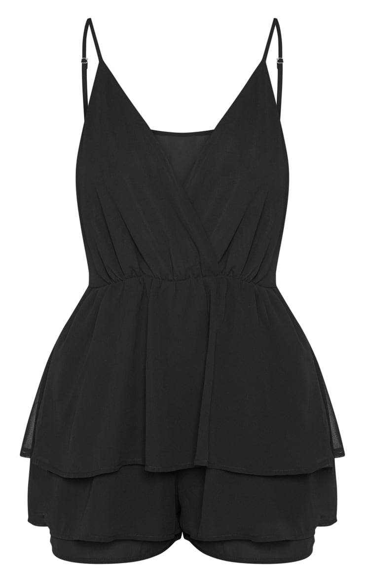 Black Frill Layer Playsuit  3