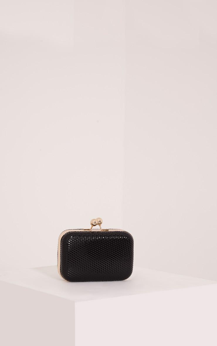 Morgan Black Box Clutch Bag 1