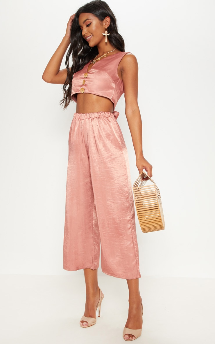 Rose Wide Leg Culotte