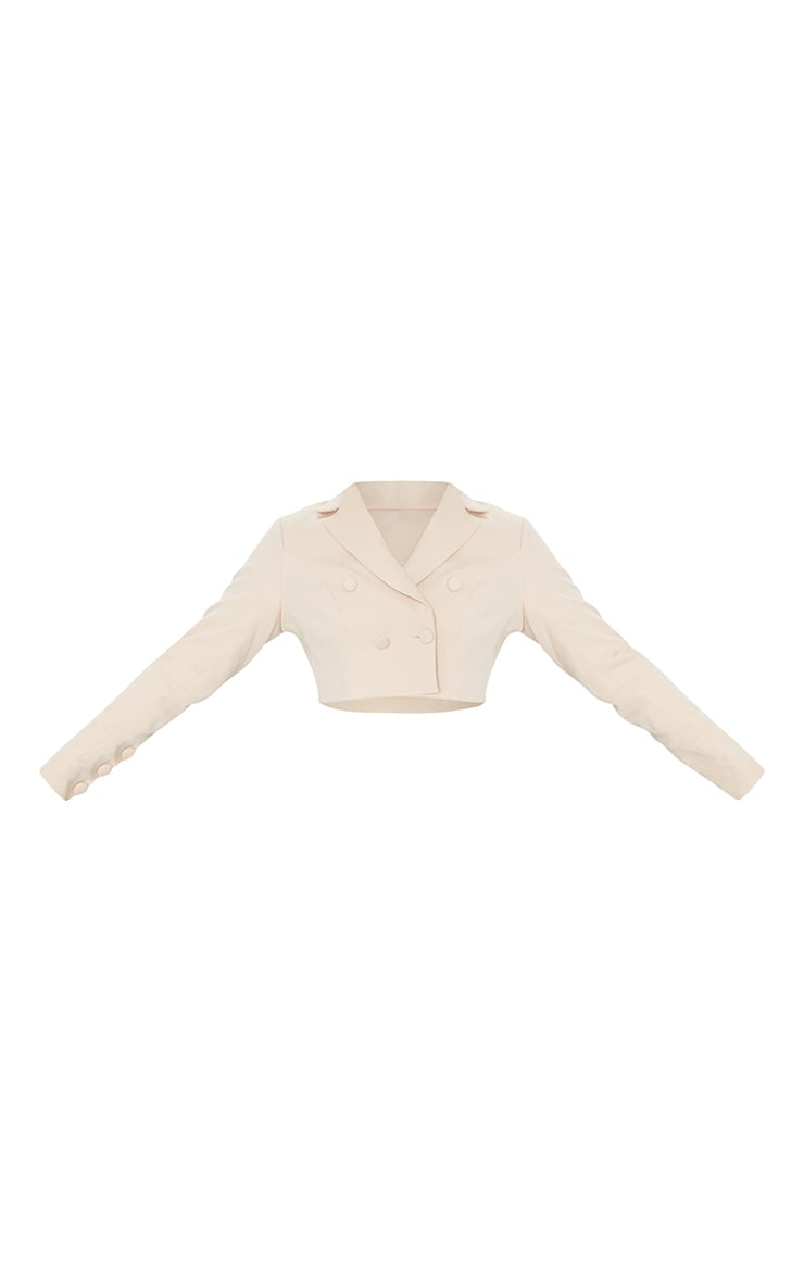 Camel Cropped Double Button Blazer 5