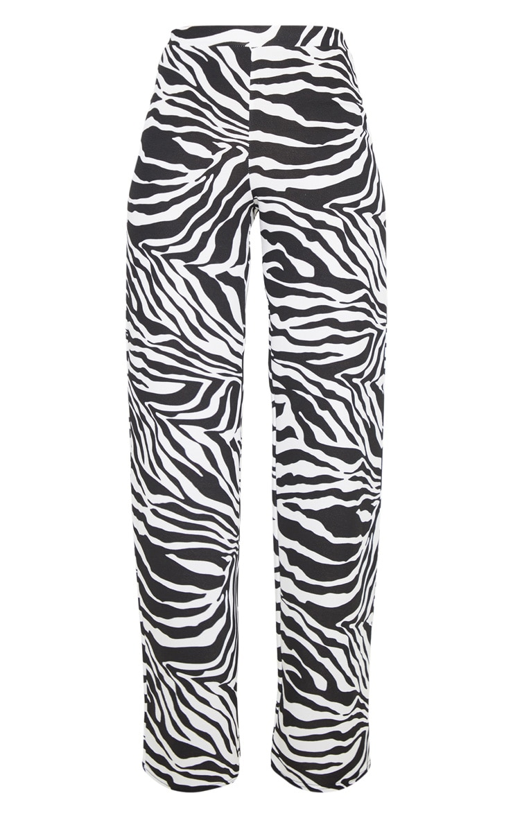 Zebra Wide Leg Pants  3