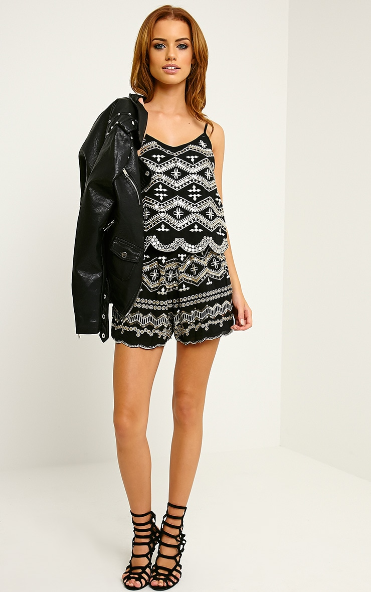 Ardelia Black Sequin Playsuit 3