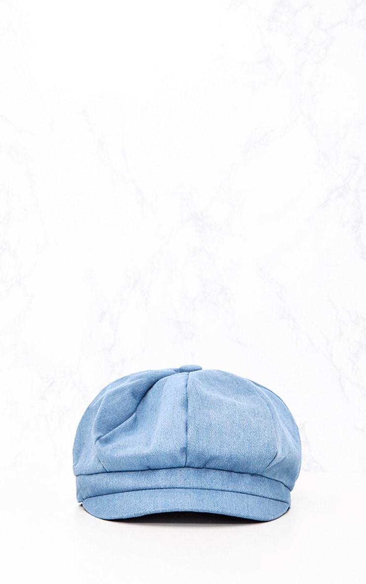 Light Wash Denim Baker Boy Hat 3
