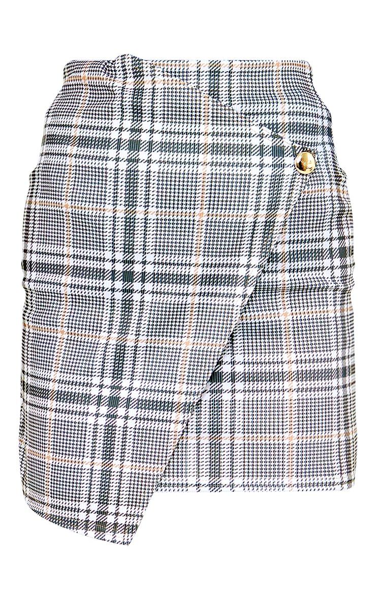 Stone Check Wrap Mini Skirt 6
