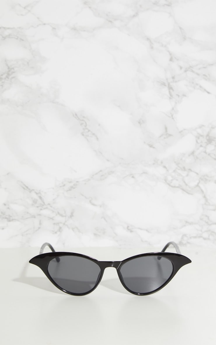 Black Drop Cat Eye Sunglasses 2