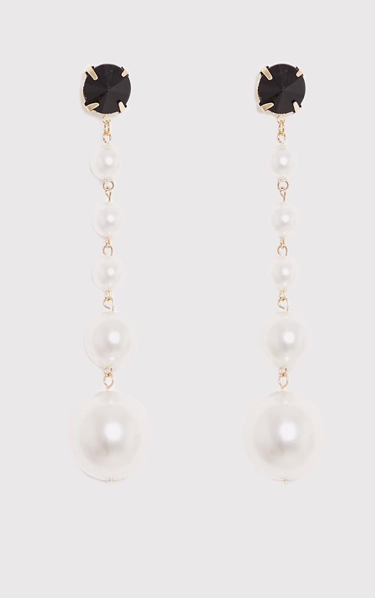 Halie Long Pearl Drop Earrings 4