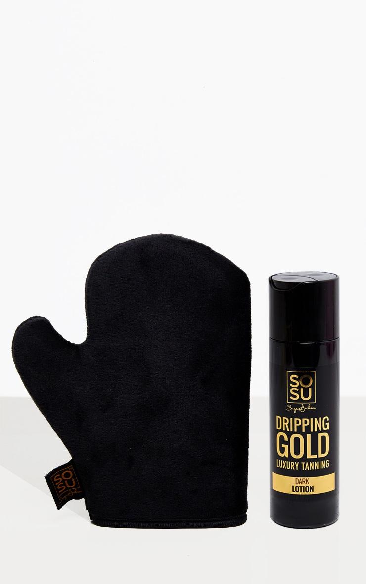 SOSUBYSJ - Gant applicateur d'autobronzant + lotion autobronzante dark 1