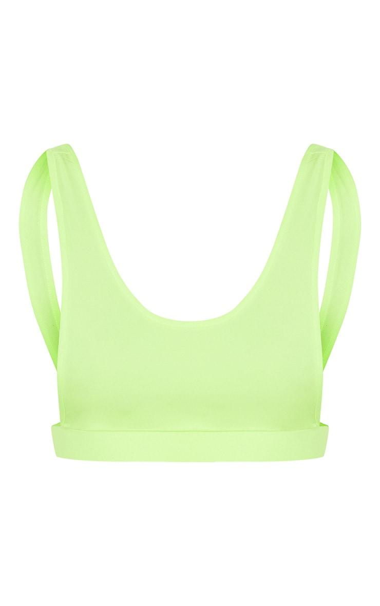 Lime Side Boob Scoop Neck Bikini Top 4