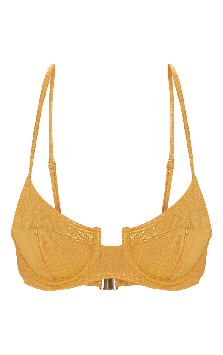 Gold Metallic Underwire Bikini Top 3