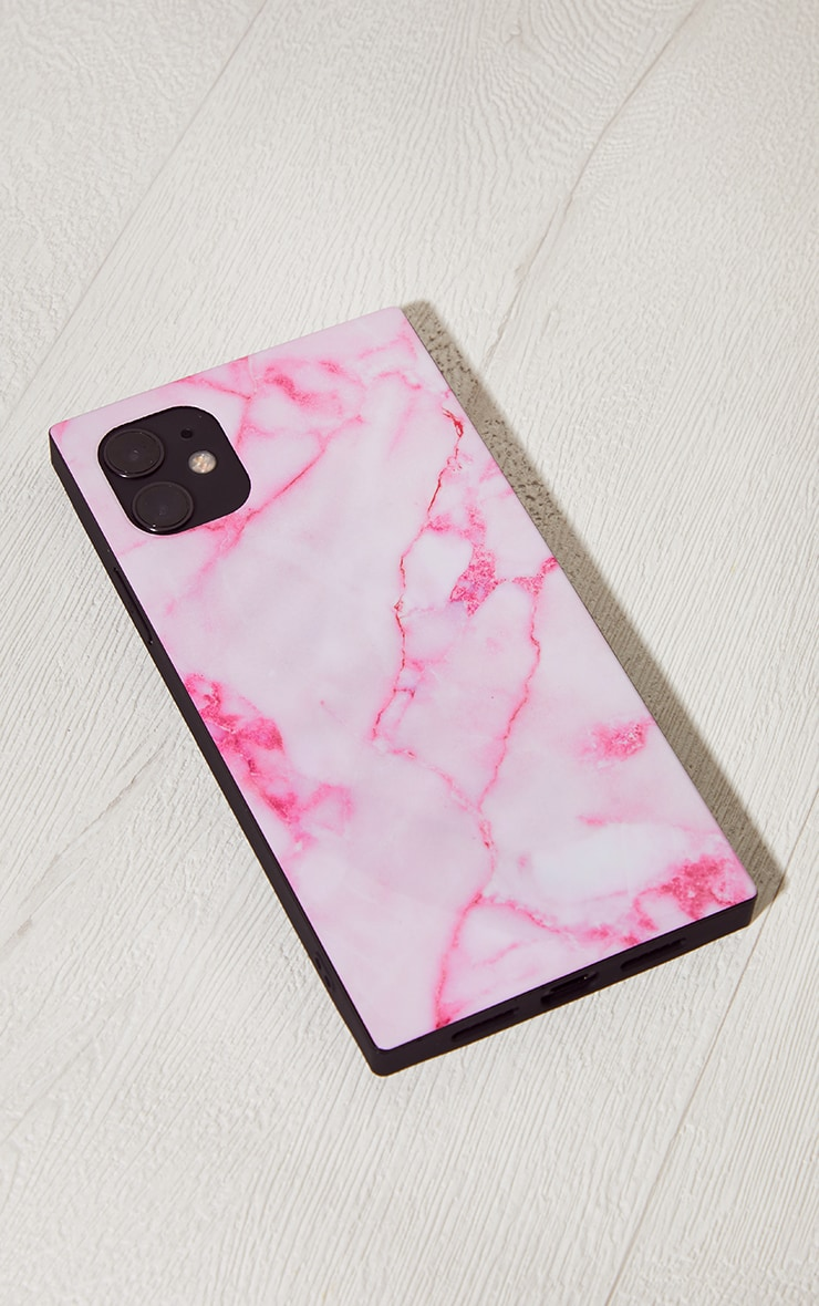 Idecoz Blush Marble Square Iphone 11 Case 1