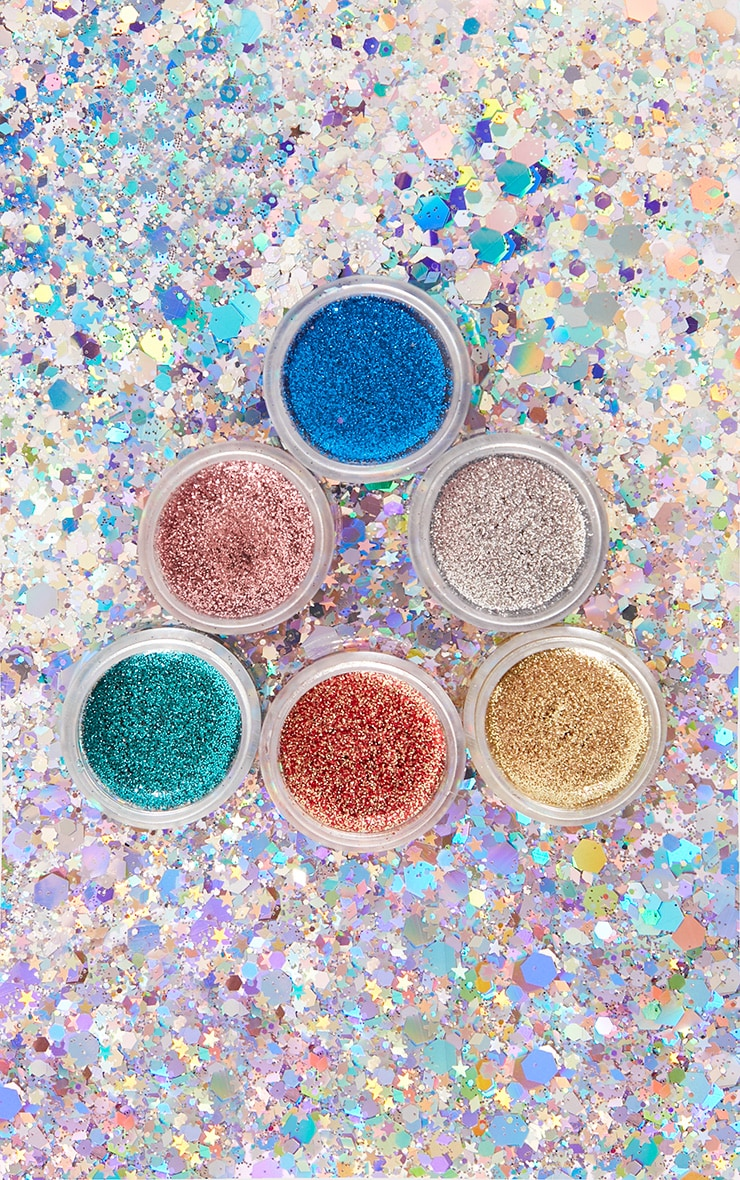 PRETTYLITTLETHING All That Glitters 6 Piece Glitter Balm Set