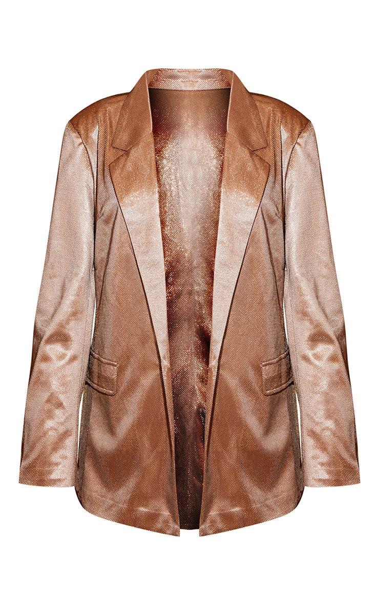 Copper Metallic Oversized Blazer 3