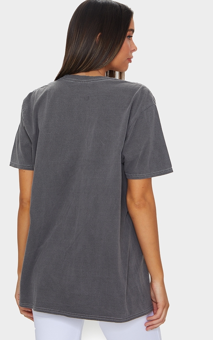 Grey Friends Washed Printed Oversized T Shirt 2