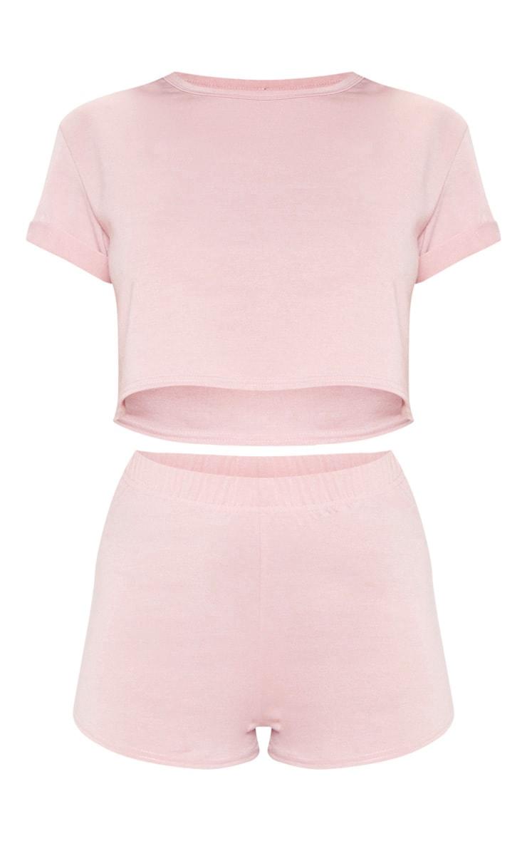 PRETTYLITTLETHING Pink PJ Short Set 3