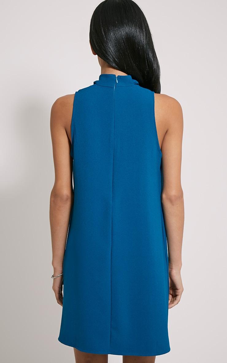 Cinder Teal Choker Detail Loose Fit Dress 2
