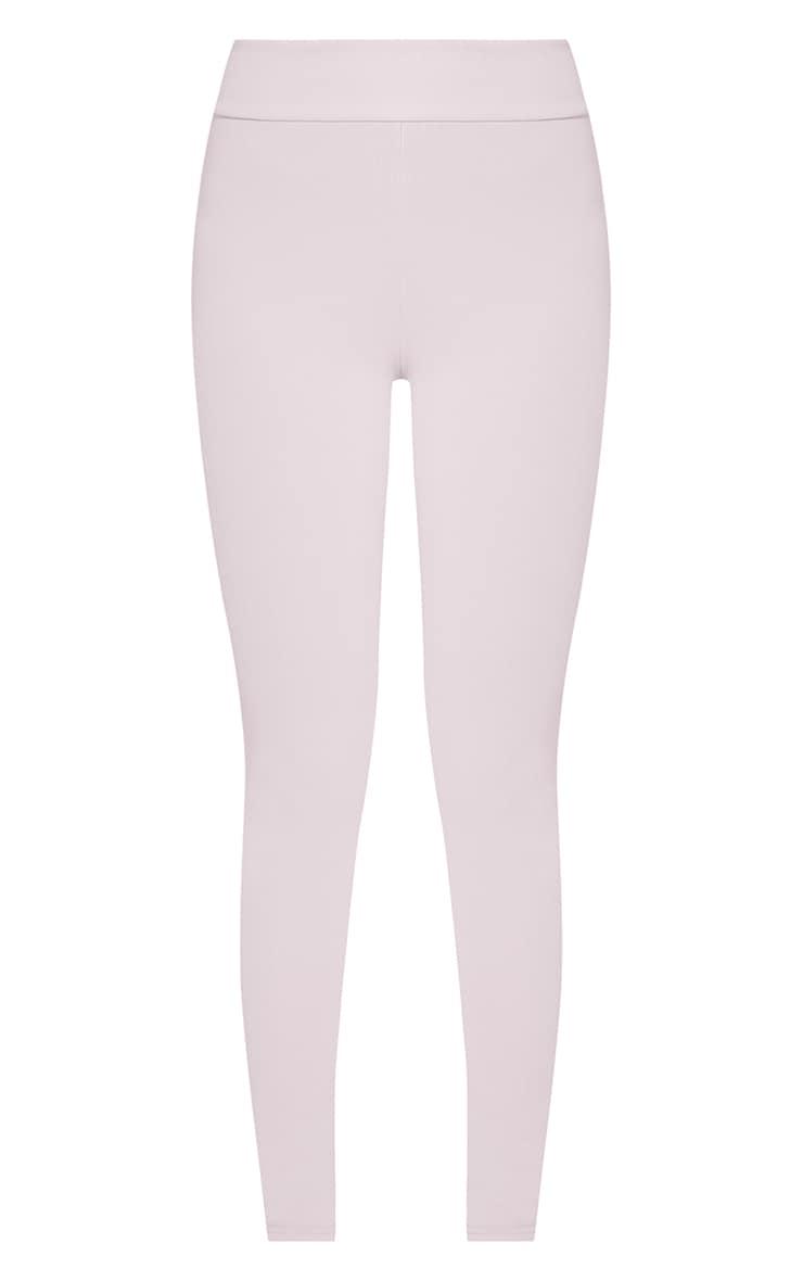 Kirsty Grey Fine Ribbed Leggings 3