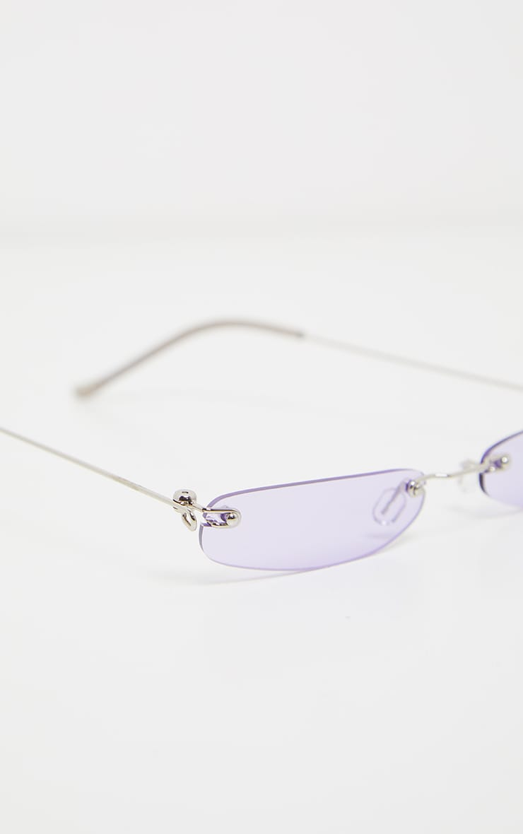 Purple Slim Line Reader Sunglasses 3