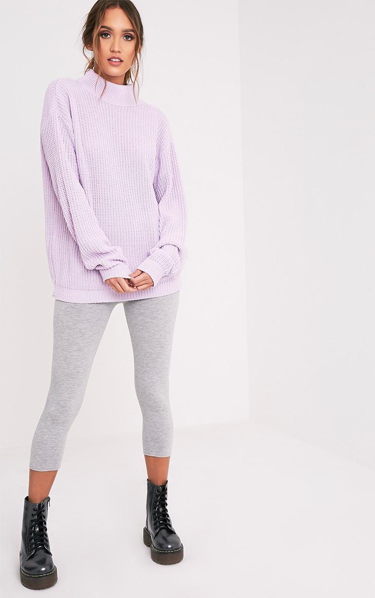 Shawnette pull tricoté lilas à découpe au dos 5