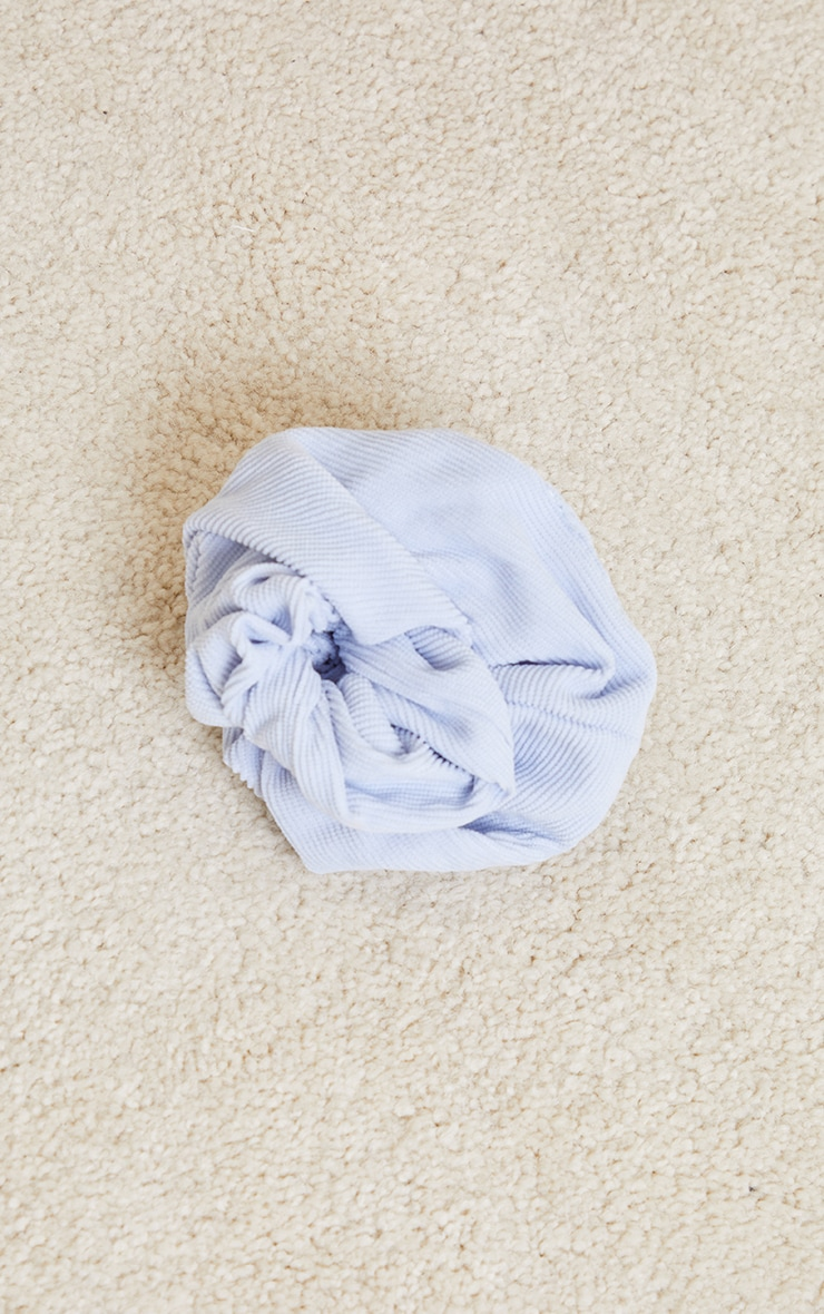 Baby Blue Oversized Cord Scrunchie 2
