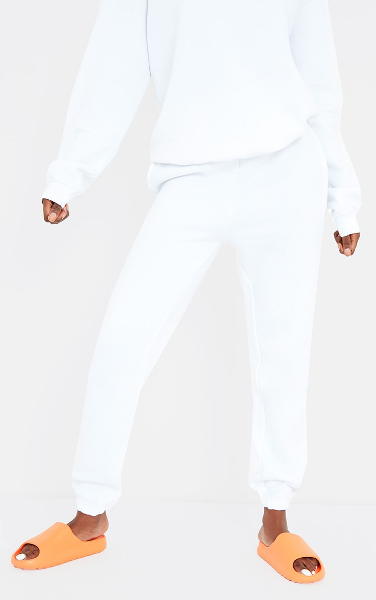Tall White Casual Cuff Joggers 2