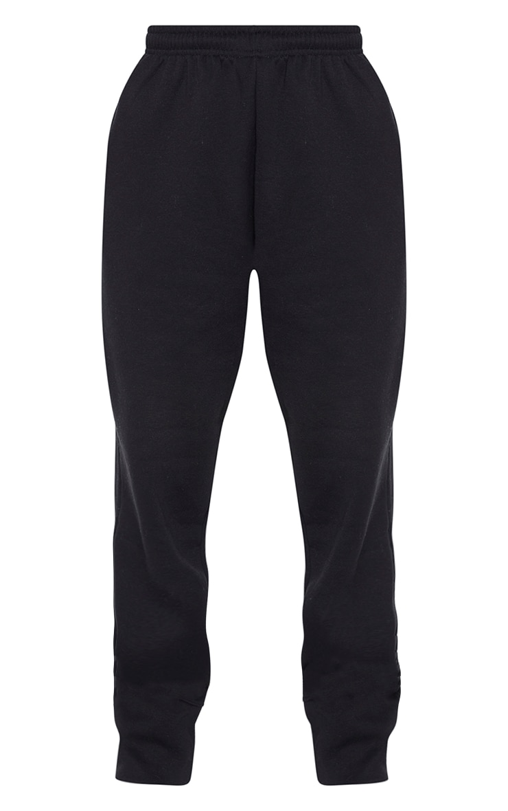 Black Seam Detail Straight Leg Joggers 5