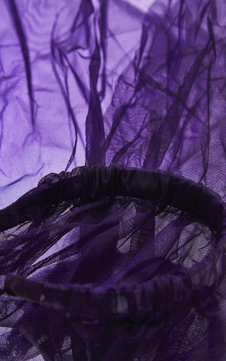 Black Veil on Hair Band 3