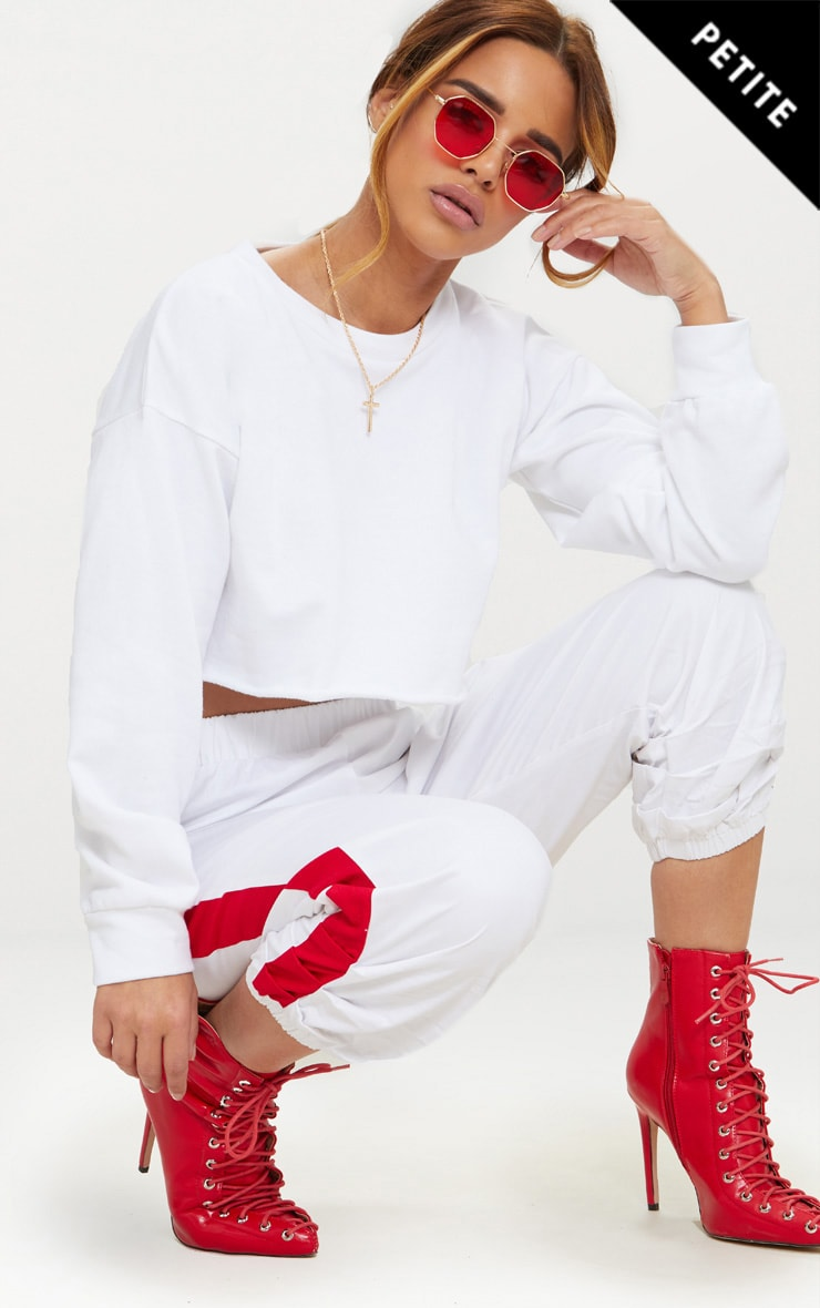 Petite White Cropped Sweater 1