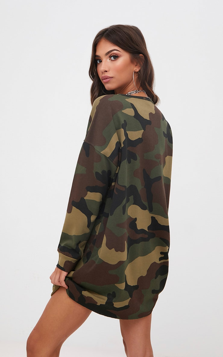 Robe sweat camouflage kaki 1