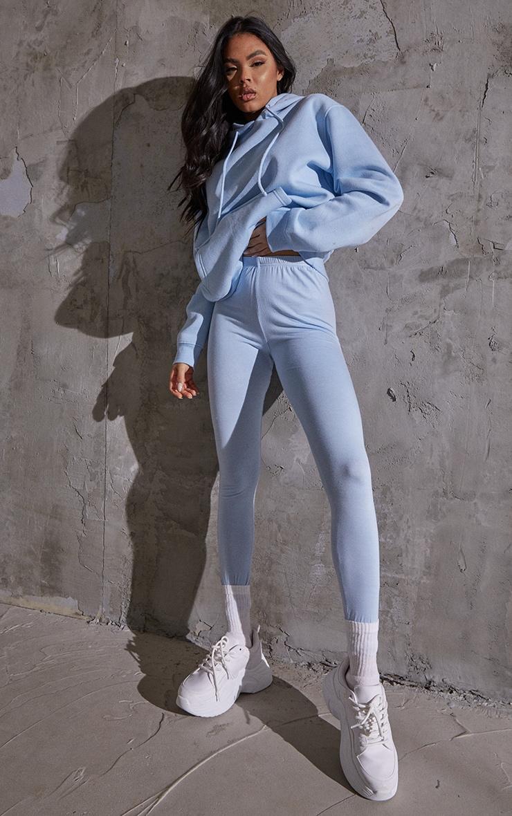 Light Blue Basic Leggings 1