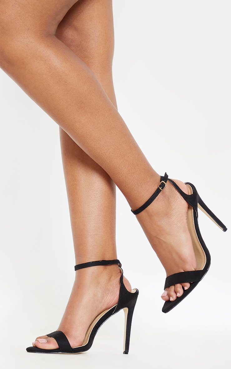 Black Point Toe Ankle Strappy Heel 1