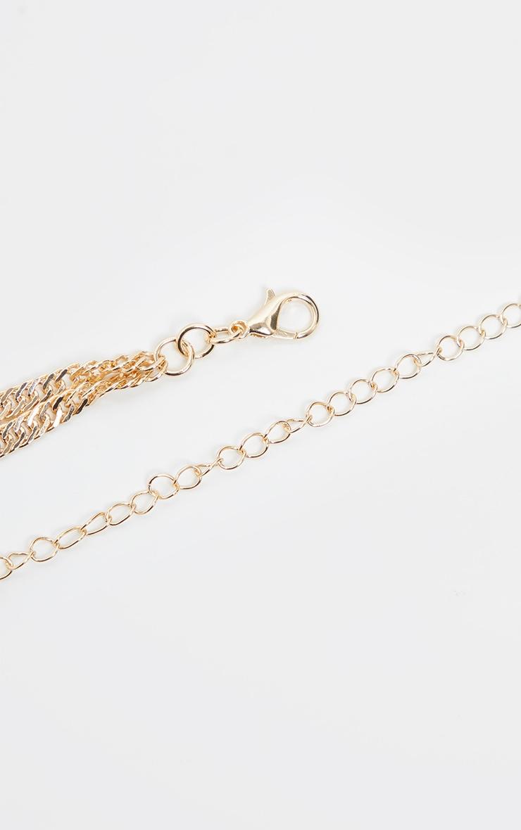 Gold Crystal Gemstone Pendant Necklace 5