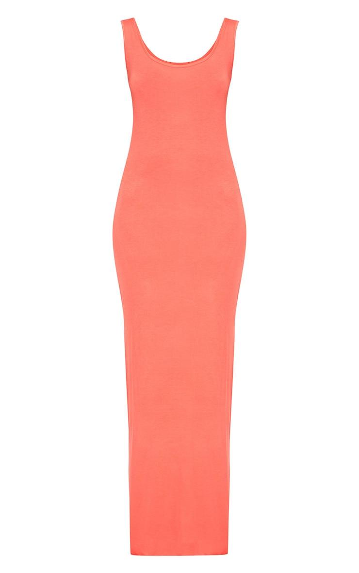 Basic Orange Maxi Dress 3