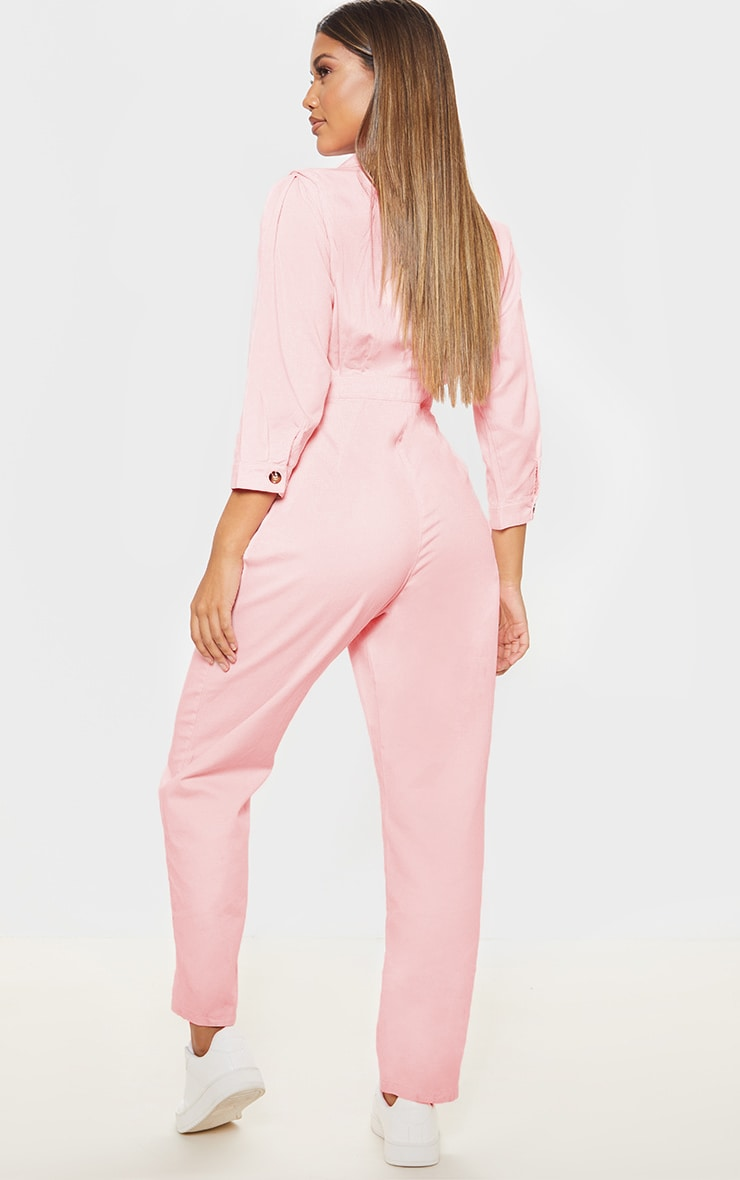 Dusty Pink Utility Boilersuit 2