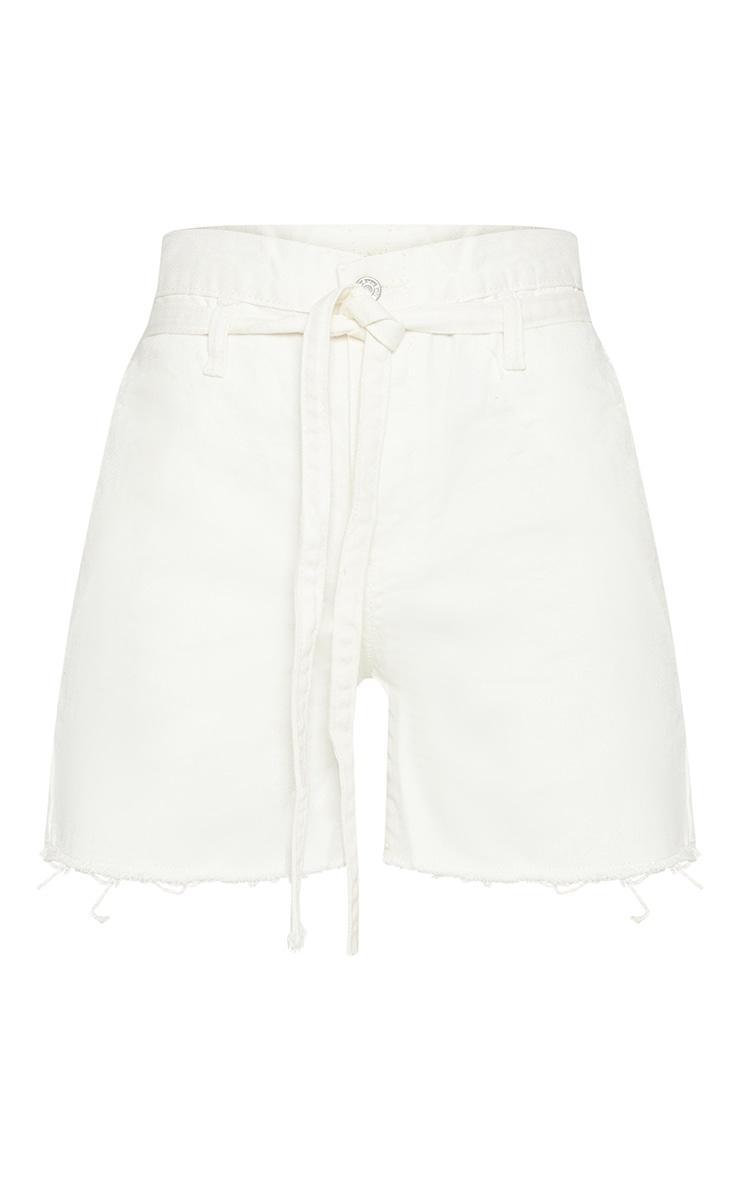 White Paperbag Shorts  3