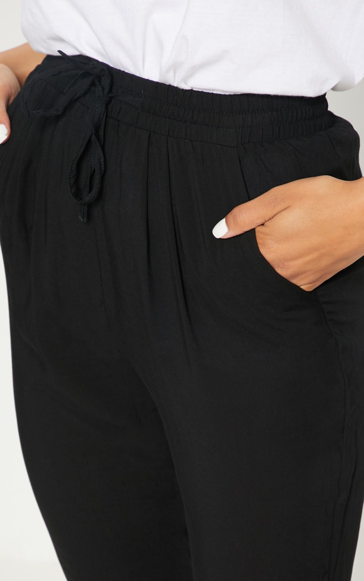 Diya Black Casual Pants 5