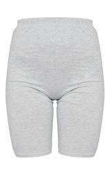 Basic Grey Cotton Blend Cycle Shorts 6