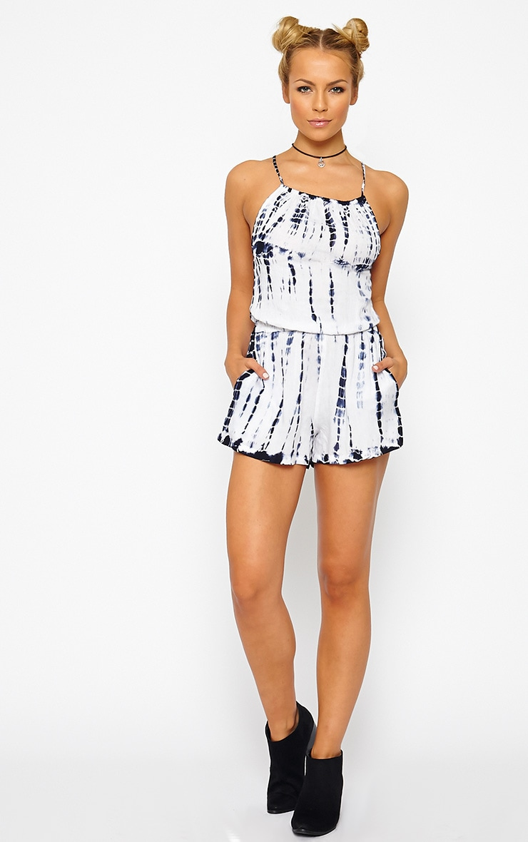Kenli Blue Tie Dye Playsuit 3
