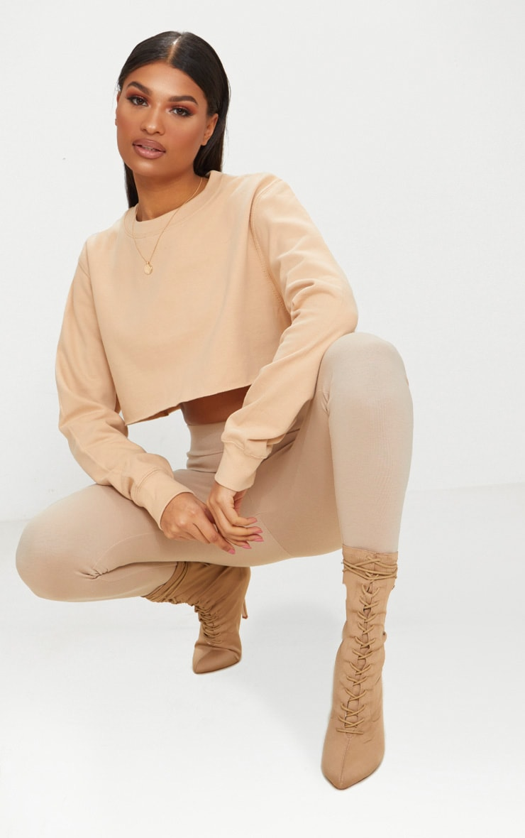 Peach Ultimate Cropped Sweater 1