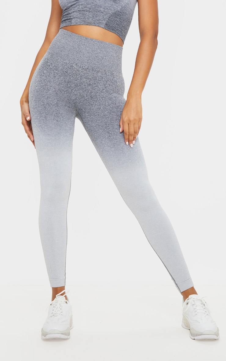Grey Marl Ombre Seamless Leggings 2