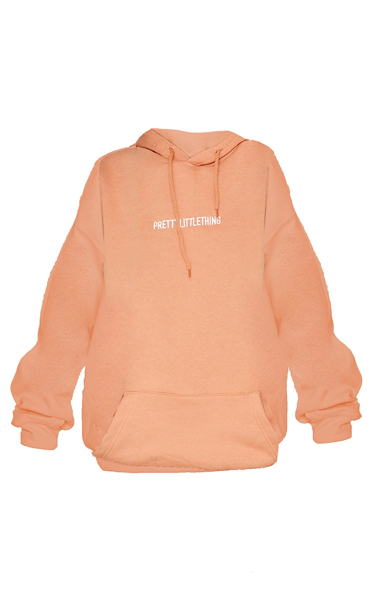 PRETTYLITTLETHING Chestnut Embroidered Slogan Hoodie 5