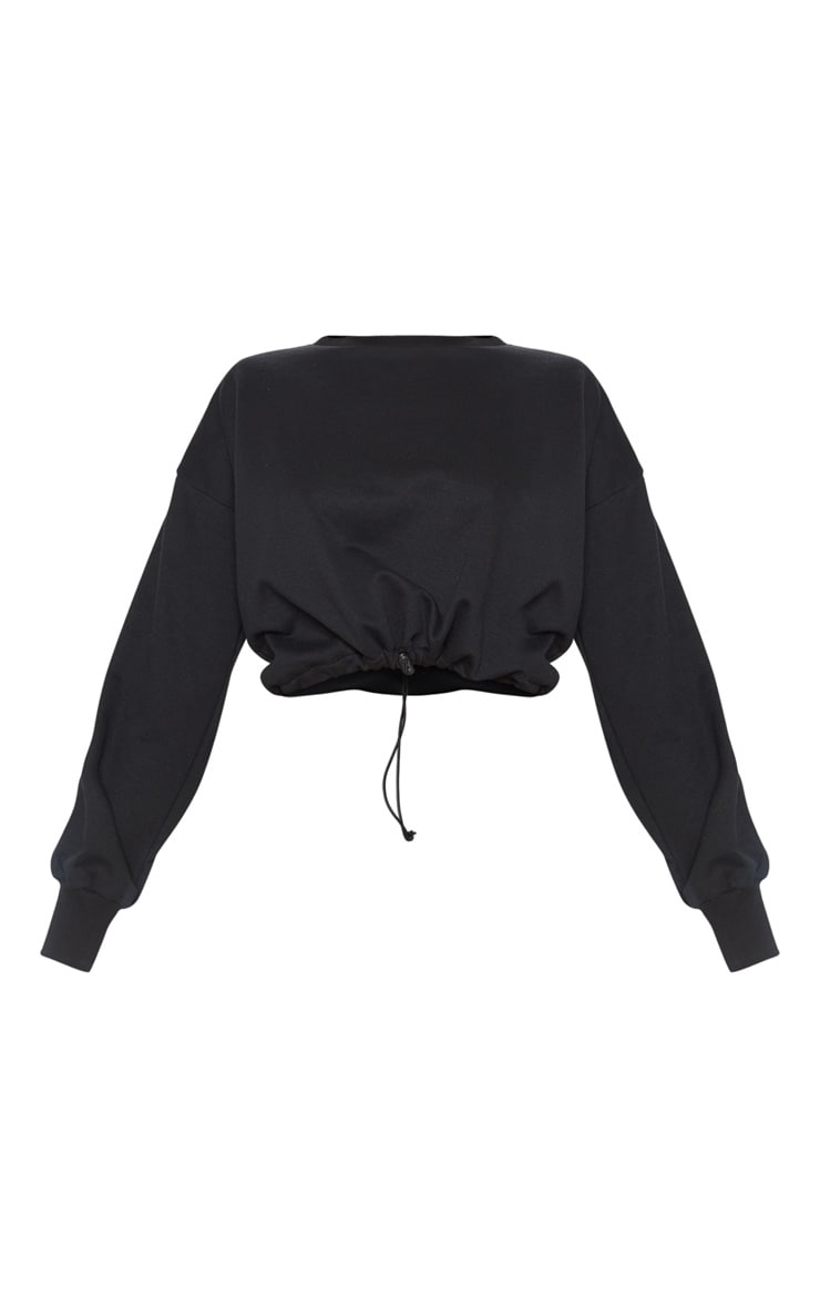 Black Basic Gym Sweat Top 3