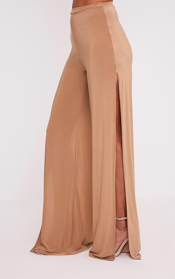 Darsee Camel Side Split Slinky Trousers 4