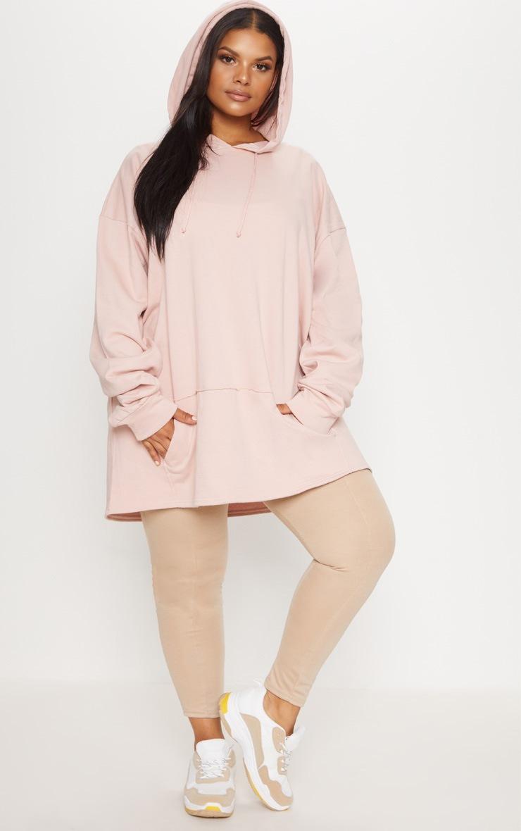 Plus Dusty Pink Oversized Hoodie 4