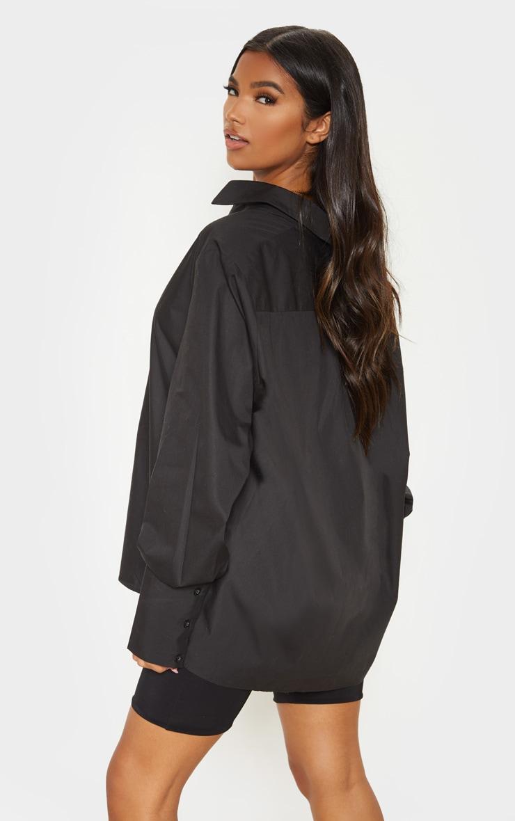 Black Oversized Cuff Shirt 2