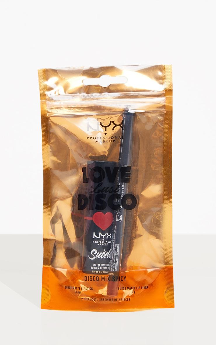 NYX PMU  Disco Mix Lip Kit - Spicy Red Matte Lip Christmas Giftset 3