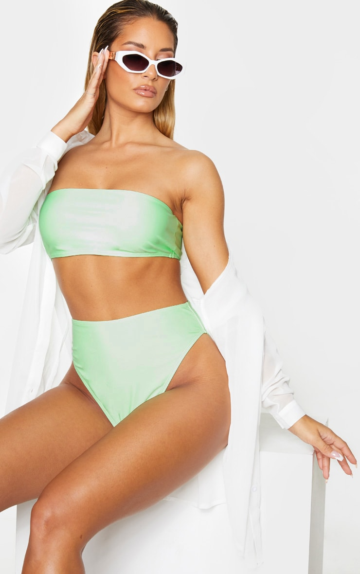Mint Mix & Match Bandeau Bikini Top 1