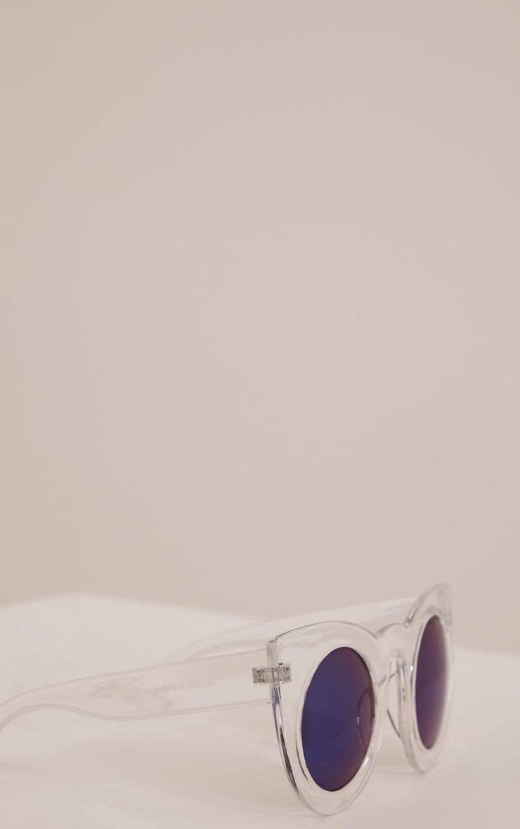 Lila Clear Retro Frame Sunglasses 5