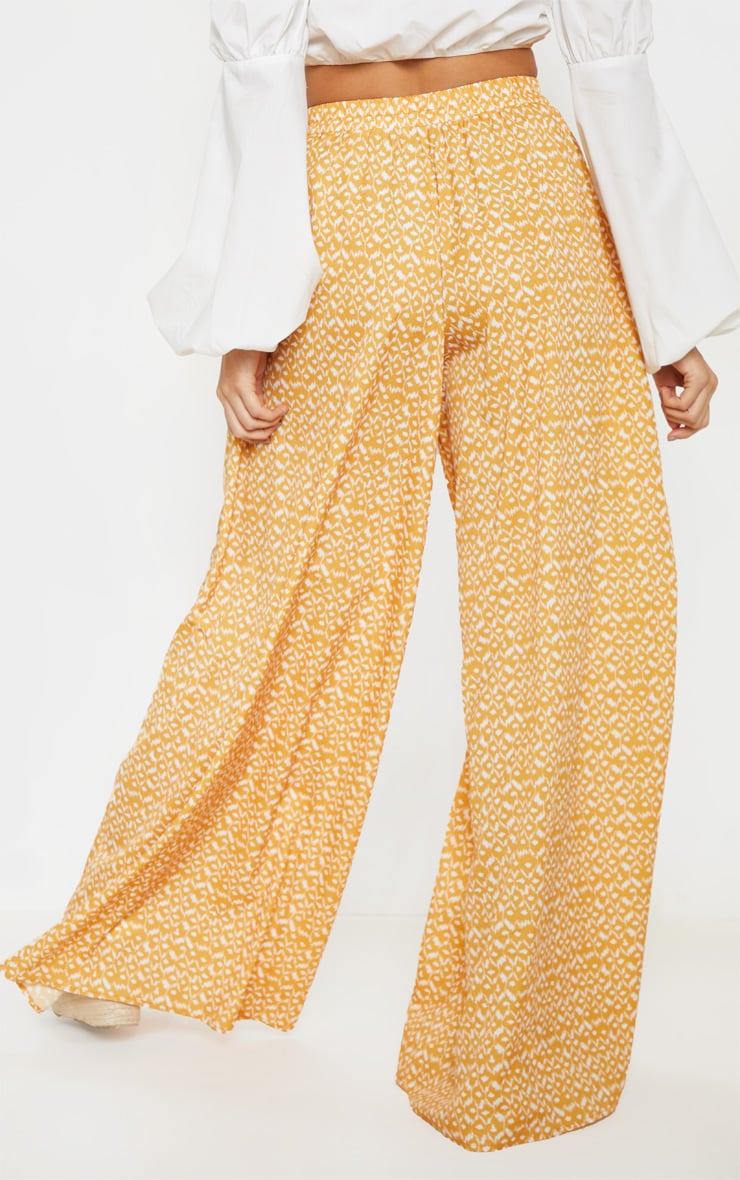 Mustard Aztec Extreme Wide Leg Floaty Pants 4