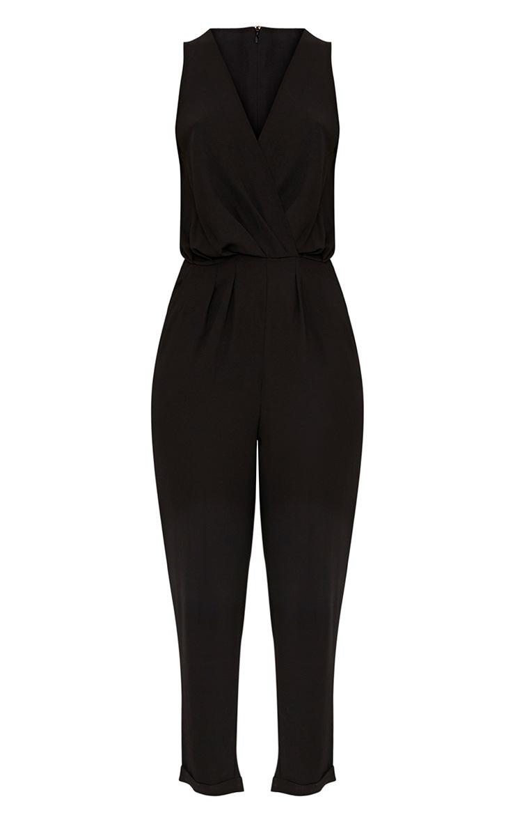 Tracey Black Wrap Front Jumpsuit 3