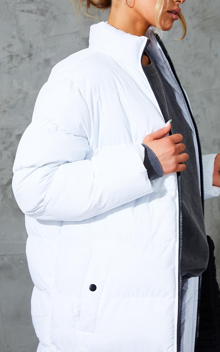 White Maxi Bubble Puffer Jacket 4